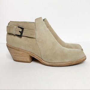 Eileen Fisher Suede Ankle Boots Booties Block Heel